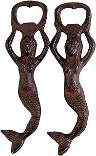 铸铁美人鱼开瓶器,17.78 cm,2 只装