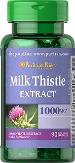 Puritan's Pride Milk Thistle 4:1 Extract 1000 mg (Silymarin)-90 Softgels