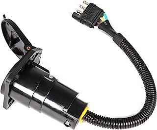 JINGJINGOLD 4 平插插头至 7 路叶片拖车适配器带安装支架 6-24v 拖车灯适配器反向插头 适用于美国
