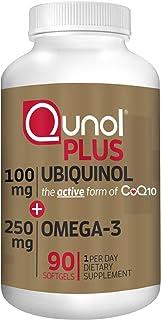 Qunol 辅酶Q10 200毫克+Omega 3鱼油250毫克,超强抗氧化补充剂,90粒