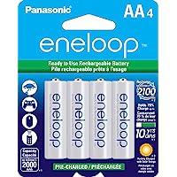 Panasonic 松下电器 eneloop 爱乐普 BK-3MCCA4BA AA 2100循环镍氢预充电电池,4节装