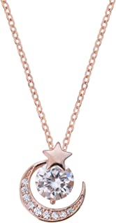 GOOKEY 玫瑰金方晶锆石项链 | 精致颈链