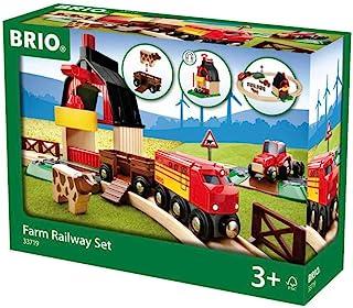 BRIO World 农场火车套装,与所有BRIO火车套装兼容,适用于3岁及3岁以上儿童