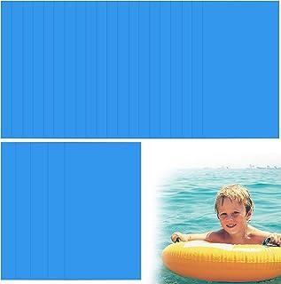Broadsheet 泳池补丁修复套装,25 件自粘 PVC 乙烯基泳池衬垫贴片空气床垫贴片套装,游泳池贴片橡胶,适用于地上游泳池充气船筏皮划艇(蓝色)