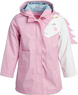 Pink Platinum 女童防雨夹克 - 轻质防水独角兽风衣Slicker Shell 雨衣(幼儿/小女孩)