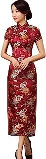 Shanghai Story 女式中国长裙旗袍缎面旗袍
