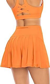 女式百褶网球裙,带口袋短裤,运动高尔夫短裙,运动装,跑步锻炼运动裙