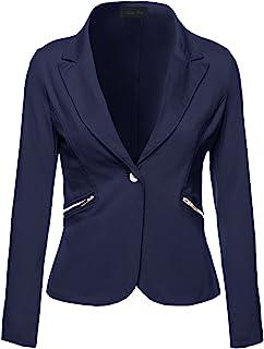 女式代码女式商务办公室服饰长袖单纽扣门襟西装
