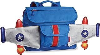 Bixbee Little Boys' Rocket Flyer Backpack, Blue, Small