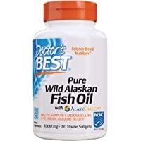 Doctor's Best 纯野生阿拉斯加鱼油 含AlaskOmega,不含麸质,180粒软胶囊