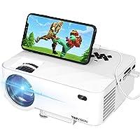 迷你投影仪,TOPVISION 2400Lux 投影仪与智能手机屏幕同步,支持1080P,176ines 显示屏,50…