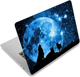 笔记本电脑皮肤贴纸盖贴花适合 12 13 13.3 14 15 15.4 15.6 英寸笔记本电脑保护套笔记本电脑 | 易于粘贴、移除和更改样式(狼和月亮)