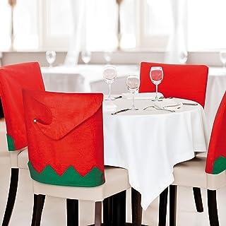 eBuyGB Elf 帽子椅背套 - 圣诞餐具装饰 红色 6 13177