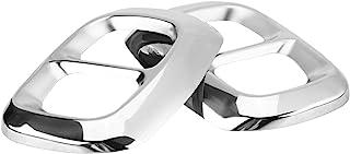 排气管输出盖装饰 - 2 件排气管输出尾盖不锈钢尾排气管输出盖装饰汽车装饰适用于奔驰 GLA 级 X156 14-18(银色)