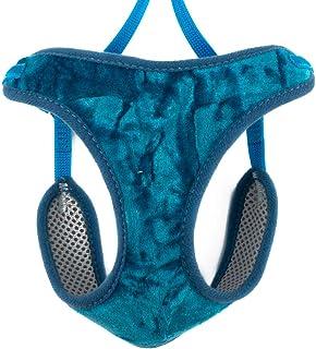 Ancol 柔软天鹅绒猫胸背带和铅酷炫蓝* L 码