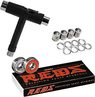 Bones Reds 滑板轴承 8 件装 [适用于滑板、长板、滑板车、转轮]