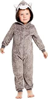 男孩和幼儿睡衣 - 毛绒拉链儿童连体衣毛毯睡衣