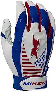 Miken Pro 成人棒球/垒球击球手套,Creora 氨纶。 MIKPRO