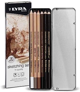 LYRA Rembrandt 素描套装 6 支铅笔,混色