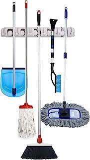 多功能扫帚、拖把、钓鱼杆、手工花园工具壁挂式支架和收纳器