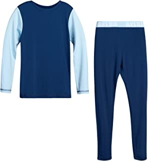 Black Bear 男孩保暖内衣套装 - 打底长袖 T 恤和长腿裤套装