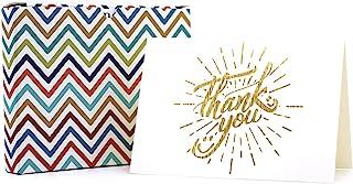 父亲卡片 男性感谢卡 毕业感谢卡 - 10 张感谢卡 带自封信封和贴纸 金色箔贺卡 婚礼商务婴儿派对用