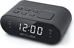 Muse M-10 收音机闹钟 带 LED 显示屏M-10CR