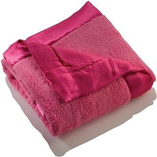 Elegant Baby 毛绒超细纤维毛毯 桃红色
