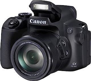Canon 佳能 PowerShot SX70 HS (20.3 MP 65 倍光学变焦,可旋转和旋转7.5 厘米 LCD,WLAN,4K 视频)