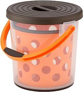 Inomata 化学 水桶 多功能挡泥板10 ブラウン&オレンジ 9399BR&OR