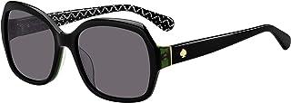 Amberlynn/S 0807/M9 57MM 黑色/灰色偏光方形太阳镜 + 免费赠送眼镜套件