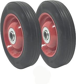 2 包 - 实心橡胶平免费轮胎 15.24 x 3.81 cm 手推车轮 - 3.18 cm 偏移轮毂 - 1.20 cm 轴 - 承重 158.76 kg