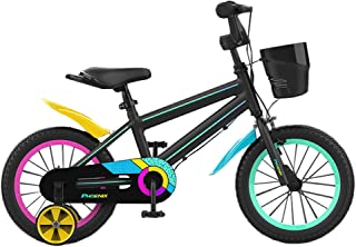 PHOENIX 儿童自行车 适合 14 16 18 20 英寸自行车 带训练轮 20 英寸带支架和篮子 适合 3-12 岁儿童青少年