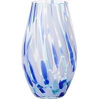 ADERIA 石塚硝子(石塚硝子)津轻玻璃 彩之风 花器 夏天 約*大13(口径8.3)×高さ21.5cm F-7185…