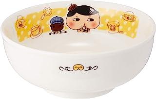 """""""小屁侦探"""" 拉面盘子 直径14.5厘米 儿童用 餐具 白色 804115"""
