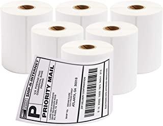 10.16 厘米 x 15.24 厘米热运输标签,2100 个标签自粘空白直接热标签,兼容 Zebra 2844 Zp-450 Zp-500 Zp-505 打印机,用于邮寄地址标签,350 张标签/卷(6 卷)