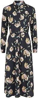 PIECES 女士中长款连衣裙,花卉图案