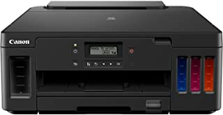Canon 佳能 PIXMA G5050 MegaTank 填充式喷墨打印机 DIN A4(4800 x 1200 dpi,WLAN,LAN,USB,Apple AirPrint,双面打印,远程打印,低页成本),黑色