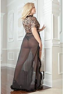 G World Sexy Glam Night 浴袍 3 × 大号 4 × 黑色 2 件套