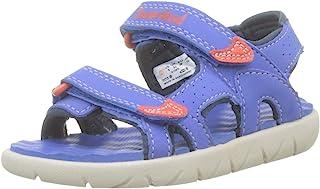 Timberland 添柏岚 中性儿童 Perkins Row 2 系带凉鞋 黑色 32 EU Perkins Row 2-strap (Toddler)