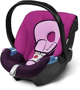 德国CYBEX婴儿提篮式儿童安全座椅Silver系列-Aton 蜜桃粉(适合初生-13kg,0-18个月宝宝,连续多年ADAC测试冠军品牌,可选配isofix底座)