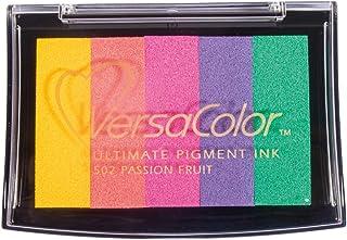 Rayher 2839799 印台 Versacolor 彩虹色 5 种颜色 印泥面积 4.7 × 7.5 厘米 彩色