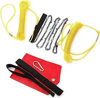 48 英寸(约 121.9 厘米)高伸向树四肢手绳锯带两把绳折叠口袋链锯生存装备,适用于露营、狩猎、徒步旅行、背包(48 英寸(约 121.9 厘米)型号)