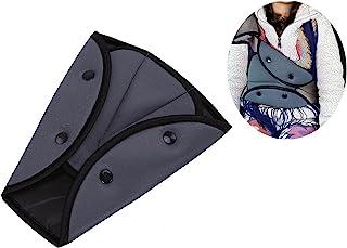 1 件*带调节器 适用于儿童汽车*带 *套 带垫 婴儿成人 肩领 三角定位器 适合所有汽车和所有尺寸的*带(灰色)