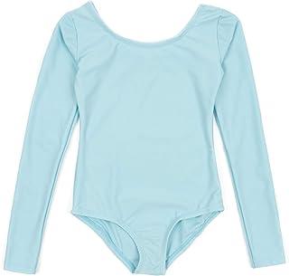 Leveret 女孩紧身连衣裤基本款长袖芭蕾舞紧身连衣裤(2T-14 岁)多种颜色