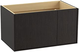 KOHLER K-99543-R-1WK 黄麻 36 英寸梳妆台,1 个门,右侧 1 个抽屉,缎面橡木