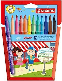 毡笔 – STABILO power – 12支装 – 12种不同颜色