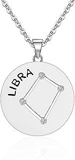 KUIYAI 十二生肖星座项链 12 星座吊坠项链 立方氧化锆占星术项链 星座星座项链 送给她的生日礼物