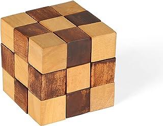 Penguin 家用木制拼图成人蛇方块,木质,6.35 x 6.35 x 6.35 厘米