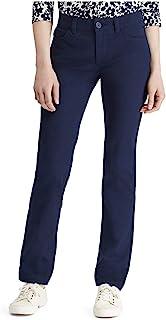 Chaps 女士直筒弹力斜纹裤